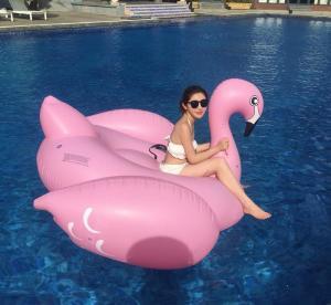 Quality Custom Lovely Animal Shape Inflatable Swim Ring For Children / adult , PVC Pool for sale