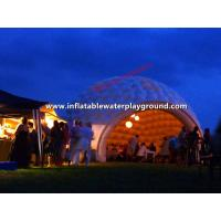 Custom Outdoor Air Tight Inflatable Dome Tent / Inflatable Party Tent Manufactures