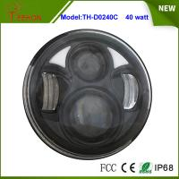 """2015 Newest 5.75"""" Round 40W High beam/Low beam LED headlight for Harley Motorcycle Manufactures"""