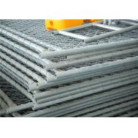 Buy cheap Chain Link Fabric Construction Fence Panels 6' height width 14' width Mesh 65mm x 65mm ASTM hot dipped galvanized from wholesalers