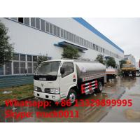 Quality dongfeng 5,000L Euro 4 milk tank truck, liquid food tank truck for sale, for sale