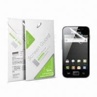 China Screen Protectors for Samsung Galaxy Ace, Made of Japanese Imported PET Material on sale