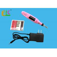 Electric Nail Drills Manicure Drill machine  with 6 Drill Bits Pink Color Pen Shape 3000~20000RPM Manufactures