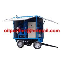 Mobile Trolley Mounted Transformer Oil Filtration Machine, movable insulation oil purifier with car wheels trailer Manufactures
