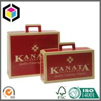 Paper Handle Custom CMYK Full Color Offset Suitcase Style Corrugated Box Manufactures