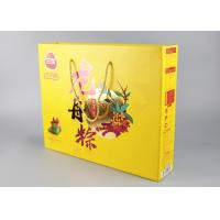 China PP Handles Paper Shopping Bags Hard Corrugated With Gold Foil Stamp And Spot UV on sale