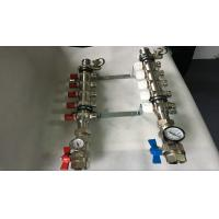 Short Flow Meter House Water Manifold Red Color For Underfloor Heating Manufactures