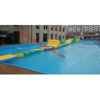 Cheap inflatable water obstacle course for sale , inflatable floating obstacle Manufactures
