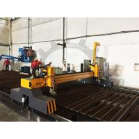 CNC Flame Cutting Machine 4m Span Two Heads Double Servo Drivers Thick Plate Manufactures