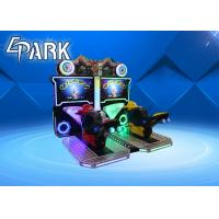 Coin operated racing car simulator electric car arcade game machine Flaming moto ride game machine Manufactures