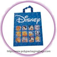 Fashion Blue Disney Soft Loop Plastic Handle Bags Promotional Manufactures