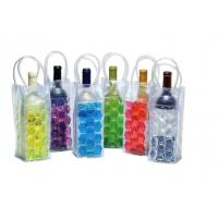 Recyclable Custom Ice Packs , PVC Wine Cooler Bag With Plastic Handle Manufactures