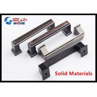 Quality 128mm American Stylish Plating Kitchen Cabinet Handles 96mm Black Arched Dresser Pulls Square Knobs for sale