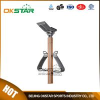 outdoor wooden fitness equipment back stretcher Manufactures