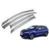 Stainless Steel Shining Garnish Window Visors For Nissan Qashqai 2015 Awning Manufactures