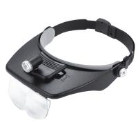 Surgical LED Magnifying Glass , Wearing Lighting Welding Helmet Magnifier Manufactures