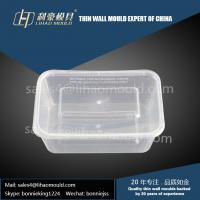 1000ml high quality thin wall square food container mould expert Manufactures