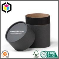 Black Color Printing Paper Round Tube for Cosmetics; Lid Off Custom Gift Paper Tube Manufactures