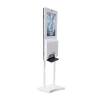 China 21.5 inch auto hand sanitizer dispenser lcd digital displayer with 1000 ml capacity wifi digital signage on sale