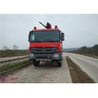 Quality Benz Chassis Airport Fire Fighting Vehicles , Approach Angle 30° Heavy Rescue Fire Truck for sale