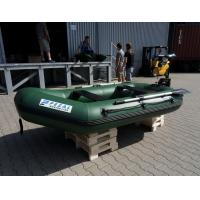 Quality Heavy Duty Army Green Marine Inflatable Fishing Dinghy / Boats With 2 Chamber for sale