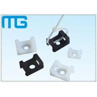 white /balck Saddle Type tie mounts with material of PA66, CE approval ,1000PCS /BAG Cable Accessories Manufactures