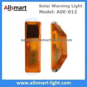 Quality Amber Solar Road Guardrail Warning Light Construction Column Stroboscopic Lamp for sale