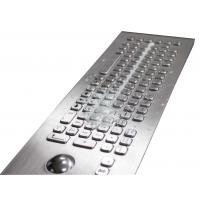 IP67 82 Keys Embedded Milk Proof Metal Kiosk Keyboard Optical Trackball For Outdoor Manufactures