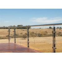 Tempered Glass Railings Stainless Steel Glass Balustrade Posts For Terrace Manufactures