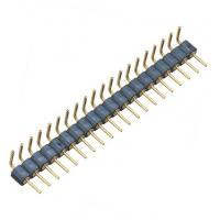 WCON Round Pin Header / 1*20P Ninety Degrees 2.54 Mm Pin Connector Manufactures