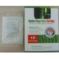 China Herbal Bamboo Vinegar Foot Detox Patches privet label OEM FDA CE 10 pieces/box on sale
