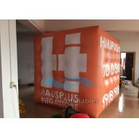 Orange PVC 3D Cube Balloon Helium Filled Customized For Outdoor Decoration Manufactures