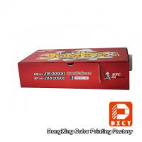 Quality Corrugated Cardboard Fast Food Boxes Packaging Recyclable Red Varnish Coating for sale