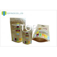 China Brown MOPP / AL Matte Printing Stand Up Food Pouches For Sandwich Aluminum Foil on sale