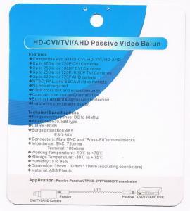 Quality UTP AHD cameras video balun, HD-CVI balun, Combinable video balun for sale