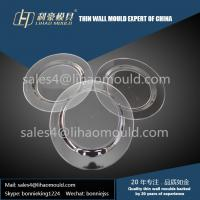 PS or PP transparent high speed  disposable thin wall plate mould expert Manufactures