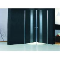 Round Profile Two Pivot Door Shower Enclosures Curved Shower Glass Enclosure Manufactures