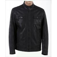 Size 46, Size 48, Casual and Designer, Fitted Young Mens Fleece Lined Leather Jacket Manufactures