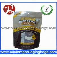 Yellow Plastic Custom Printed Stand Up Zip Pouches For Cookies Manufactures