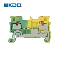 Yellow Green Conductor Protect Grounding Terminal Blocks Flame Resistant Nylon Manufactures