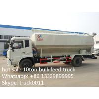 cheapest price Dongfeng 10tons animal feed truck for sale, 20m3 dongfeng hydraulic feed truck for fish, pig farms Manufactures