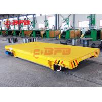 Large Table Battery Powered Carts Industrial Transfer, Flexible Motorized Transfer Trolley On Rail Roads Manufactures