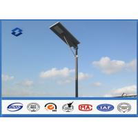 9M High Mast Tapered Parking Lot Light Pole IP 65 White Surface Color Manufactures