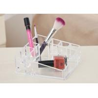 Desktop Clear Counter Display Stands Tray Exquisite For Cosmetics Manufactures
