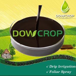 DOWCROP HOT SALE HIGH QUALITY SEAWEED NPK 100-100-100+40ALG 100% water soluble fertilizer black brown organic fertilizer Manufactures
