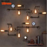 LEDream new fashion wroguht iron Water pipe wall lamp vintage aisle lights loft iron wall lamp edison incandescent light Manufactures