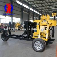 100meters hydraulic exploration drilling rig/wheeled type water well drill rig convenience of transport for price Manufactures