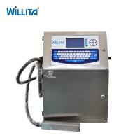 Willita Industrial CIJ Food And Beverage Expiry Date Inkjet Coding And Marking Printing Machine Manufactures