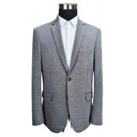 Custom Size Mens Grey Knit Blazer Adults Casual Business Person ODM Manufactures