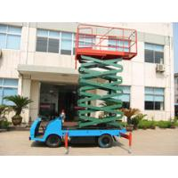 Automobile 16m vertical vehicle mounted scissor lift for theatre / hospital Manufactures